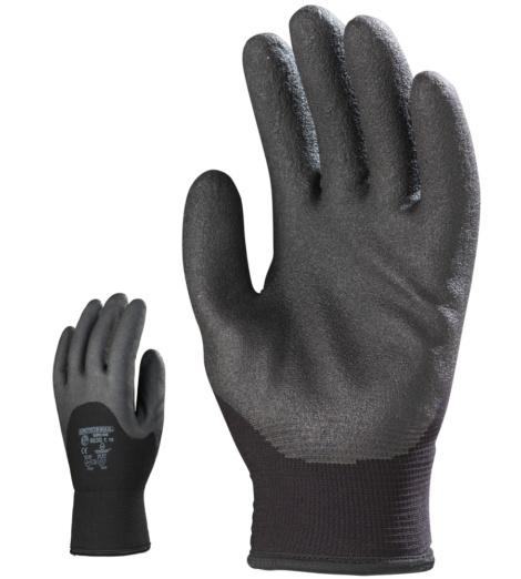Photo de 10 paires de gants anti-froid  nylon doubles enduits pvc hpt
