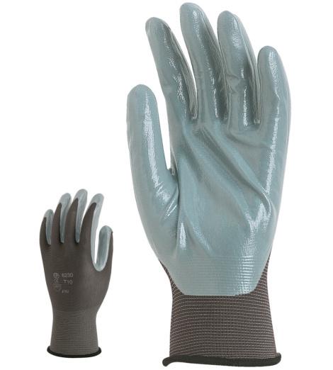 Photo de 10 paires de gants de protection polyamide enduits nitrile