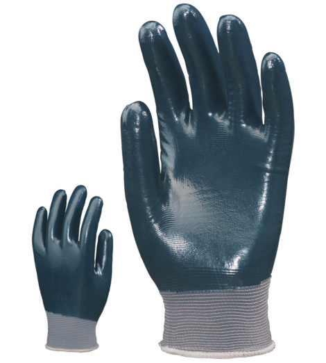 Photo de 10 paires de gants de protection  nylon enduits nitrile