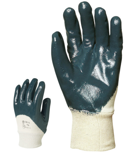 Photo de 10 paires de gants de protection coton enduits nitrile