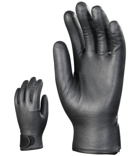 Photo de 10 paires gants anti-froid nylon doubles polaire enduits nitrile
