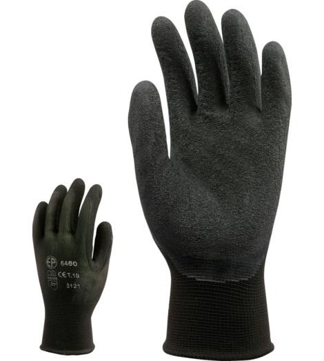 Photo de 10 paires de gants de travail nylon enduits latex