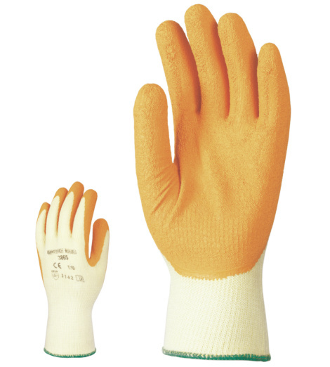 Photo de 10 paires de gants poly-coton enduits latex superieur t9