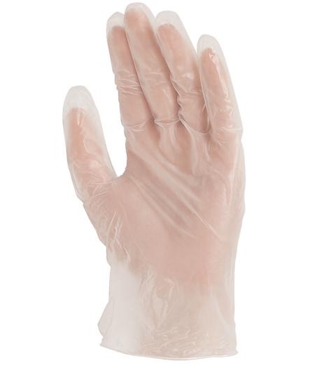 Photo de 100 gants de protection jetables vinyle poudres
