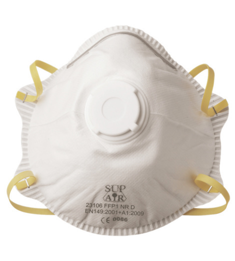 Photo de 10 masques de protection coque ffp1 avec valve