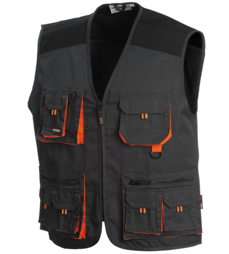 Photo de Gilet de travail Chrono anthracite/noir