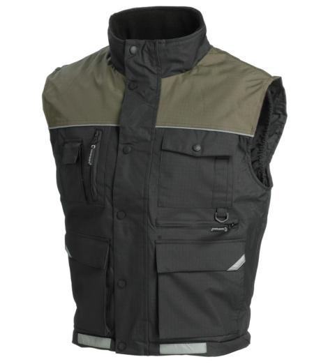Photo de Gilet multipoches Ripstop noir/beige