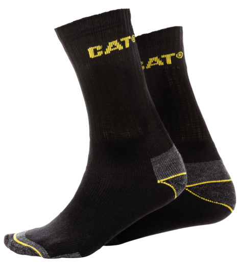 Photo de Chaussettes Caterpillar C-123.0 noires (3 paires)