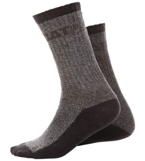 Photo de Chaussettes Caterpillar Thermo noires (2 paires)