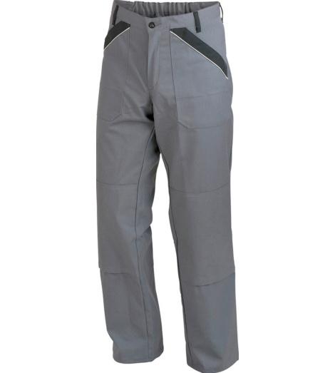 Arbeitshose grau für Maurer, aus elastischem & robustem Material, Baumwolle-Polyestergewebe, preiswert