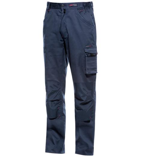 pantalon de travail bleu en stretch adapt au plombier chauffagiste w rth modyf. Black Bedroom Furniture Sets. Home Design Ideas