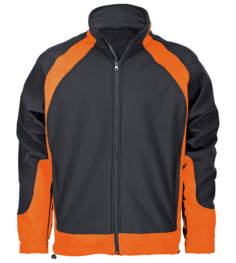 Foto von Softshelljacke Work Solution schwarz orange