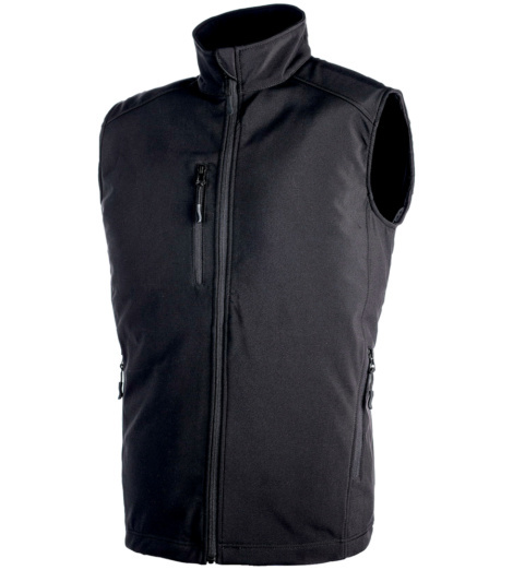 Gilet in softshell nero da uomo City