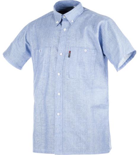 Camicia Sky manica corta azzurro