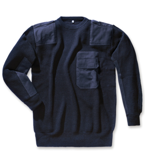 Foto van Wollen trui Marineblauw