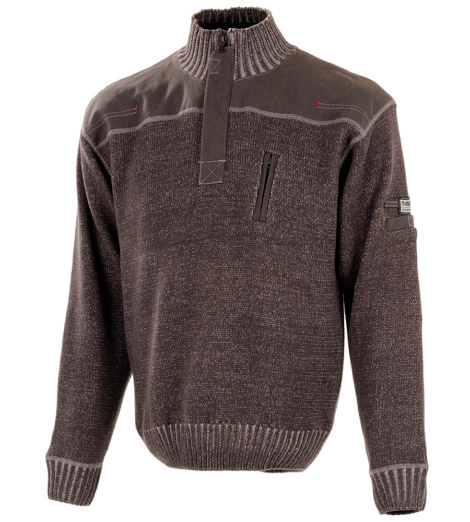 Photo de Pull zippé Mascot FrontLine Naxos anthracite