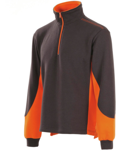 Foto van Sweater Modyf Fit Antraciet/Oranje