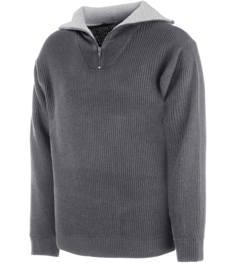 Photo de Pull zippé de travail Master gris anthracite