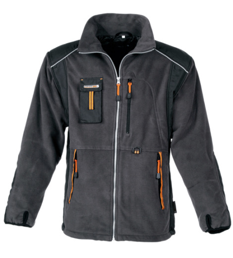 Foto von Fleecejacke Work grau orange