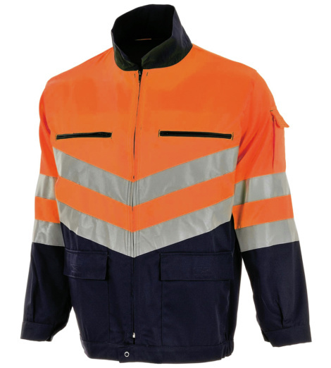 Photo de Veste haute visibilité orange fluo/marine EN 471 2/2