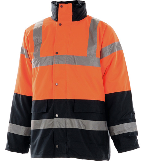 Photo de Parka haute visibilité Traffic orange fluo/marine EN 471 3/2