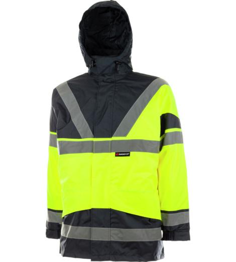 Warnschutzparka gelb für Tief und Straßenbau