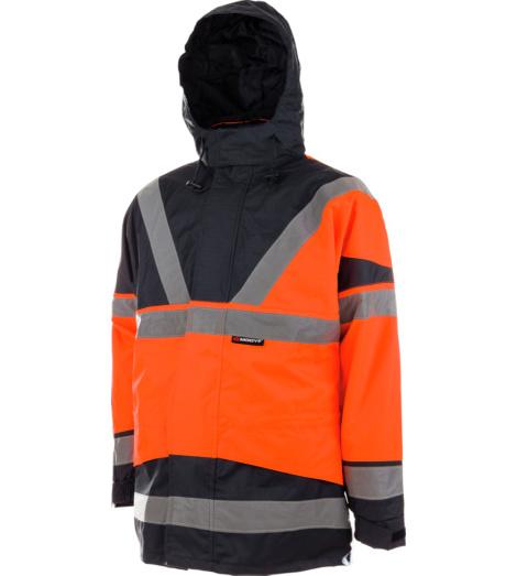 Warnschutzparka orange für Straßenbau