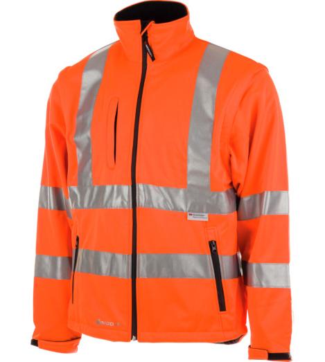 Warnschutz Softshell orange für Straßenbau