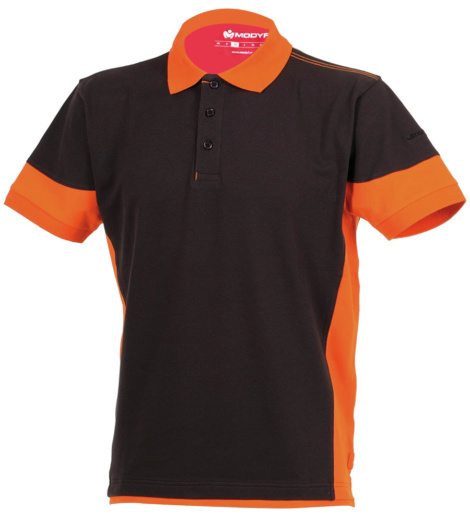Photo de Polo de travail Stretchfit anthracite/orange