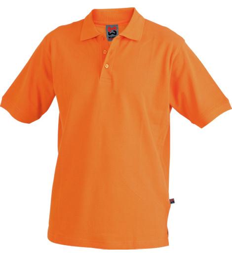 Arbeitspoloshirt orange für Tief und Straßenbau