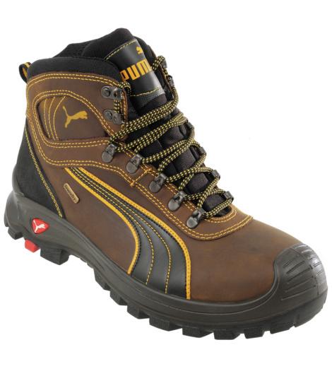 Photo de Chaussures de sécurité montantes S3 SRC HRO Puma Scuff Caps Sympatex brun