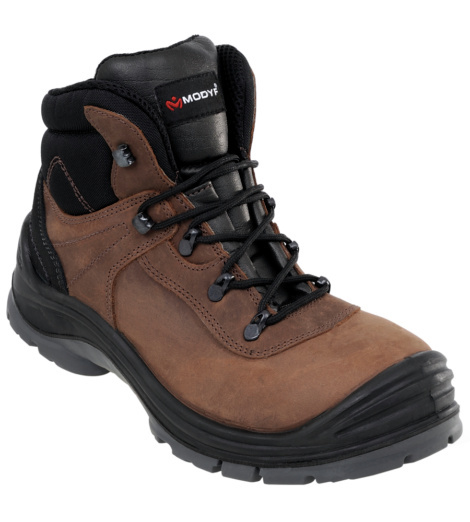 Photo de Chaussures de sécurité montantes Builder S3 SRC brunes
