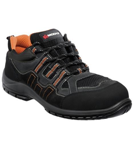 Chaussure de sécurité noire pour les monteurs de bâtiments