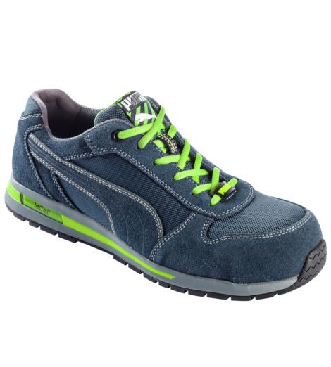 Photo de Chaussures de sécurité Puma Airtwist low bleues/vertes