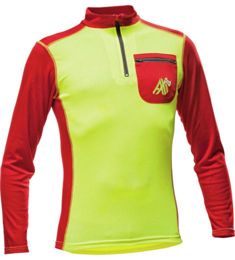 Foto von Funktions Langarmshirt AX MEN gelb rot