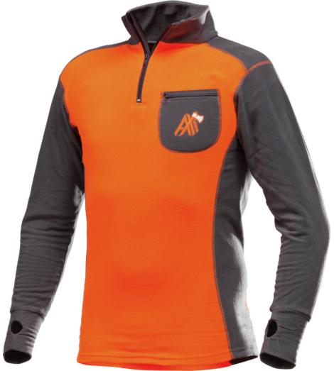 Foto von Funktions Langarmshirt AX-MEN ISO orange grau