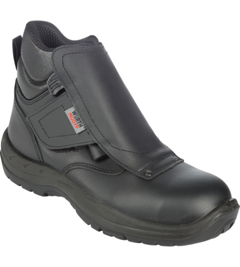 Chaussure de travail noire avec lacets protégés