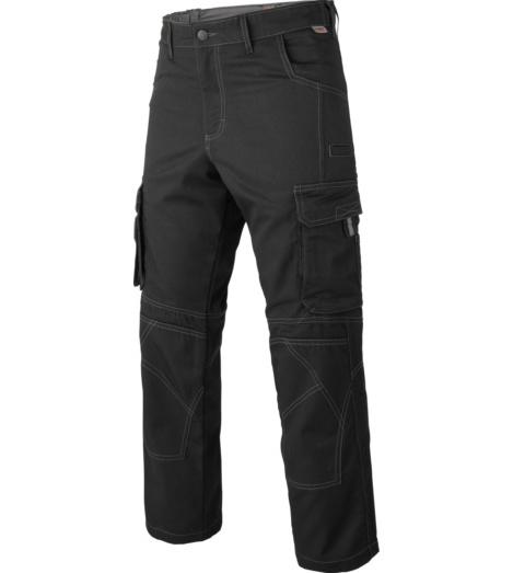 Arbeitshose Cargo schwarz für Logistiker, bequemer Schnitt, mit praktischen Taschen, modische Optik