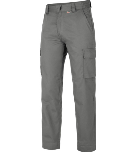Pantalone grigio invernale con cerniera YKK
