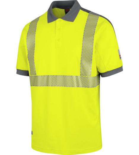 Foto von Warnschutz Poloshirt Neon EN 20471 2 gelb anthrazit