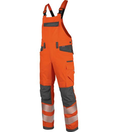 Foto von Warnschutz Arbeitslatzhose Neon EN 20471 2 orange anthrazit