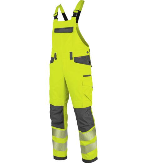 Foto von Warnschutz Arbeitslatzhose Neon EN 20471 2 gelb anthrazit