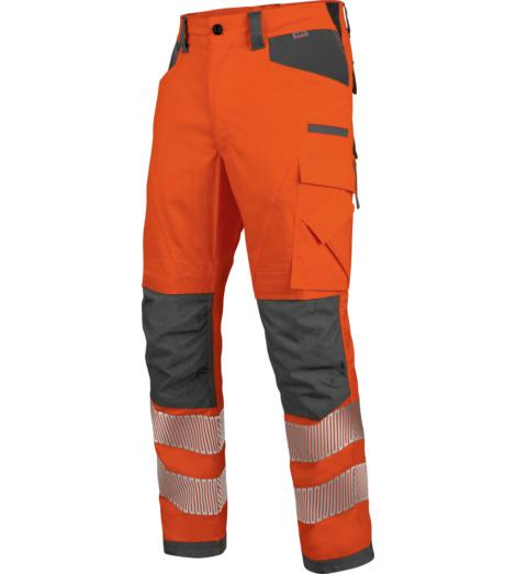 Foto von Warnschutz Winter Bundhose Neon EN 20471 2 orange anthrazit
