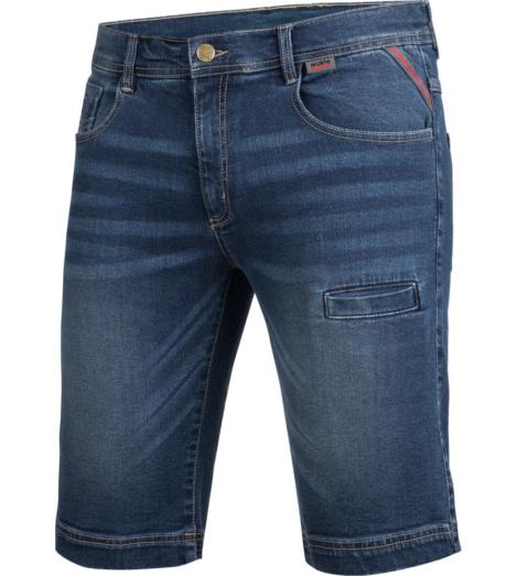 foto di Bermuda in jeans Stretch X blu
