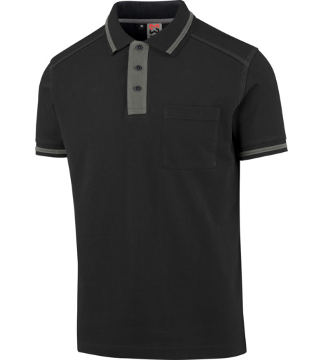 Photo de Polo de travail Classic Würth MODYF Noir Gris
