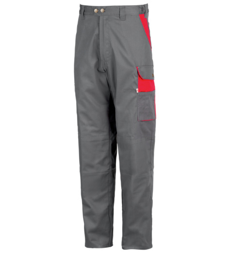 Photo de Pantalon de travail Action gris/rouge