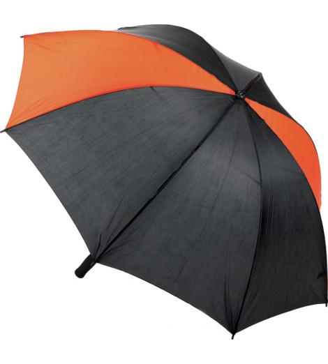 Foto von Windresistenter Regenschirm schwarz orange