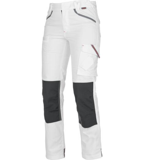 foto di Pantalone Stretch X donna bianco