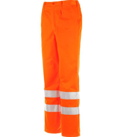 Foto von Warnschutz Bundhose Road orange