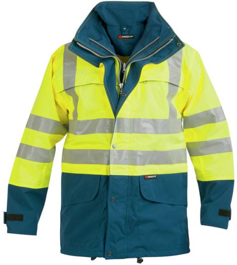 Foto von Warnschutz Parka Klasse 3 gelb